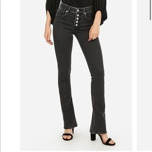 Express High Waisted Skyscraper Button Fly Jean
